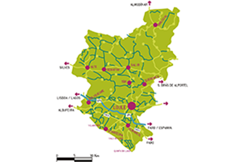 mapa loulé Município de Loulé   Câmara Municipal de Loulé Cartografia mapa loulé
